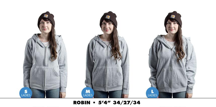 Hoodie female zip 3