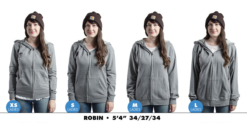 Hoodie female zip lightweight 3