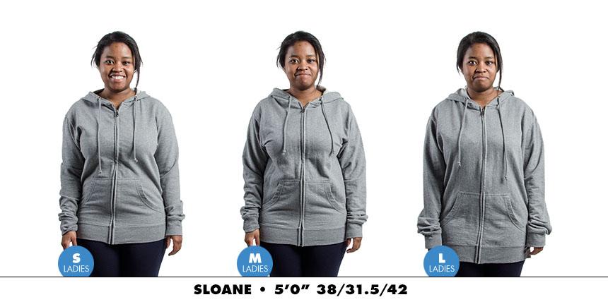 Hoodie female zip lightweight 4