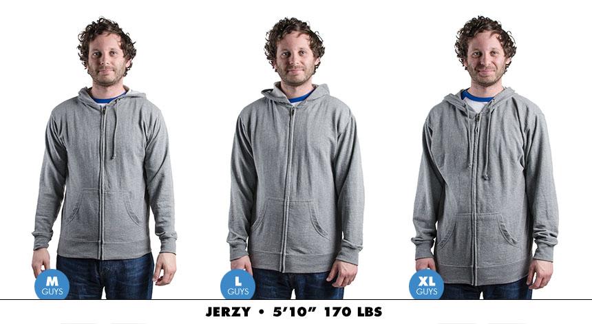Hoodie male zip lightweight 4