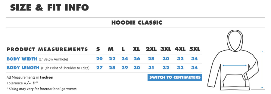 Hoodie regular inches1