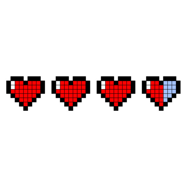 Transparent Pixel Heart Pictures To Pin On Pinterest
