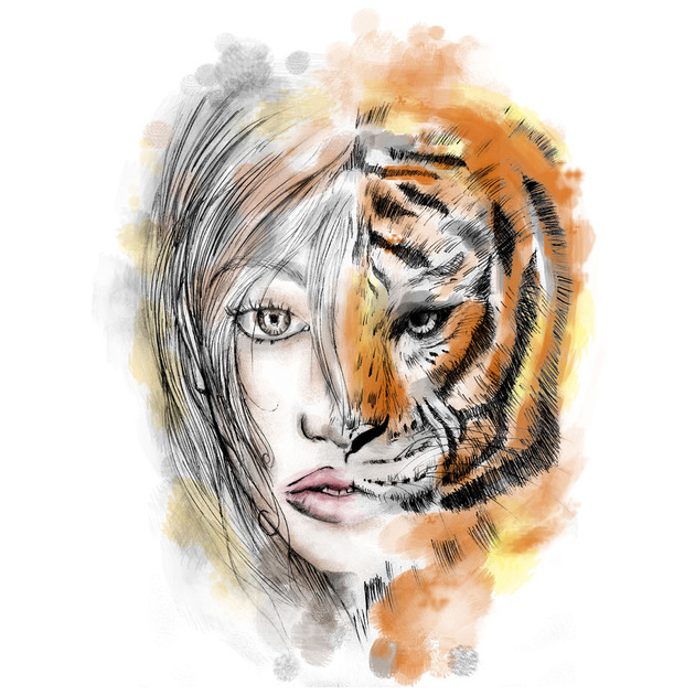 the lady or the tiger a The middle-aged woman was killed instantly after she followed a younger woman out of the car, which was in the tiger enclosure at the.