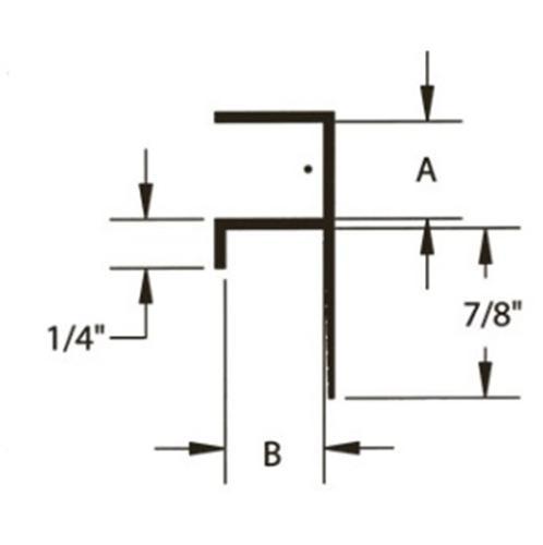 3/4 in x 1/2 in Gordon Final Forms II Reveal F Molding