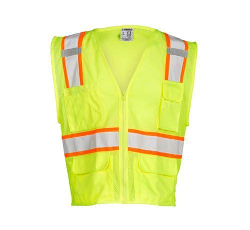 Kishigo All Mesh Contrast Vest / Lime - Large