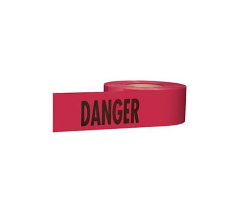 3 in x 1000 ft Red Danger Barrier Tape