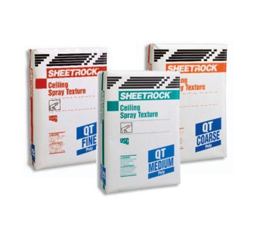 USG Sheetrock Brand QT Poly Ceiling Spray Medium Texture - 40 lb Bag