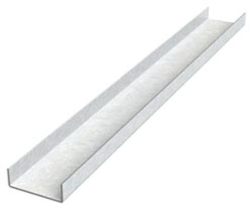 3/4 in x 10 ft Galvanized Cold Rolled Channel