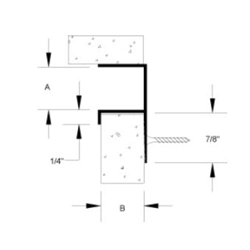 3/4 in x 3/4 in Gordon Final Forms II F Acoustical Reveal Trim