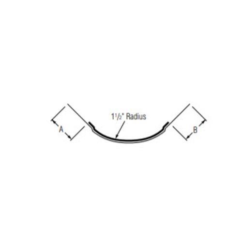 10 ft USG Beadex Tape-On Paper-Faced Metal Bullnose Outside Corner w/ 1 1/2 in Radius