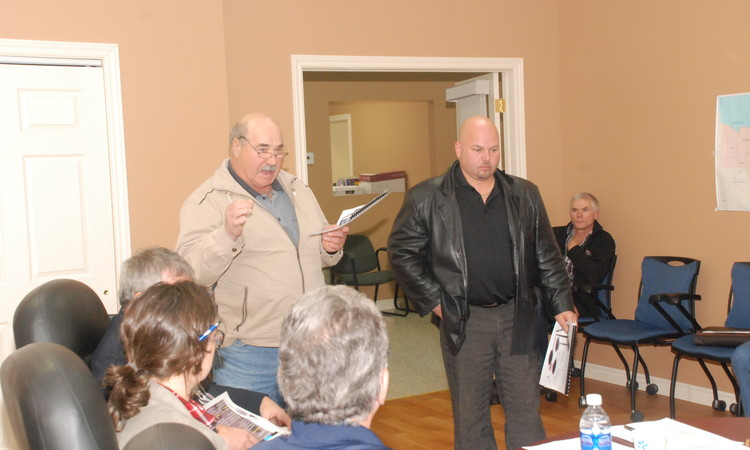 Rodolphe Roy Left Of VTT 2000 And Serge LePage Restigouche Timber Trails Address The Regional Service Commission 2 About A Proposed St Maure Relay