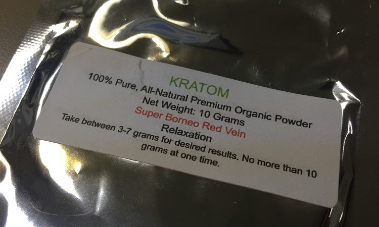 The Warning On A Package Of Kratom