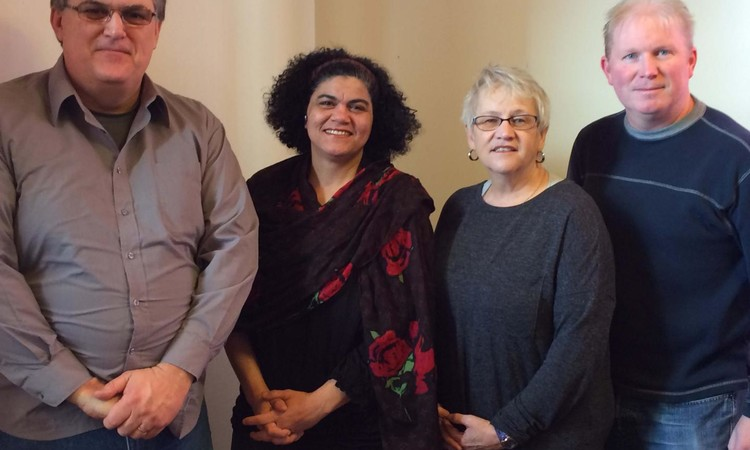 Nackawic Area Refugee Support Group is expecting to receive a Syrian family  of five by the end of February. Group members from left to right: Rev.