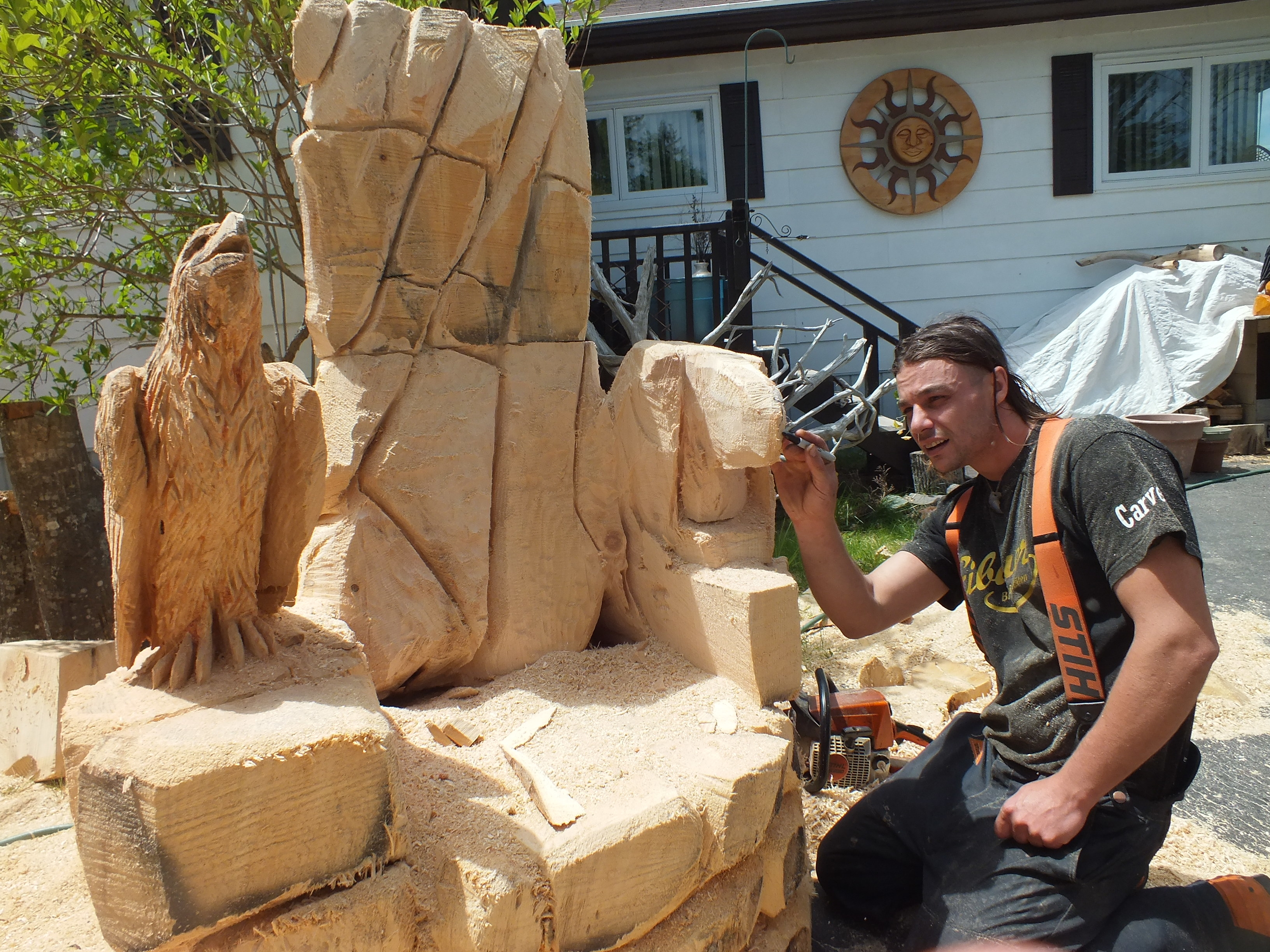 Eternity chainsaw carvings home facebook