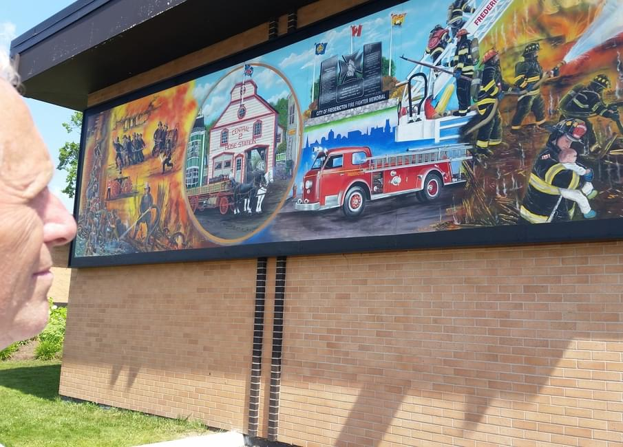Fredericton Fire Chief Paul Fleming Admires The New Mural Depicting The  200 Year History Of His Department Unveiled At The York Street Station  Monday ... Part 64