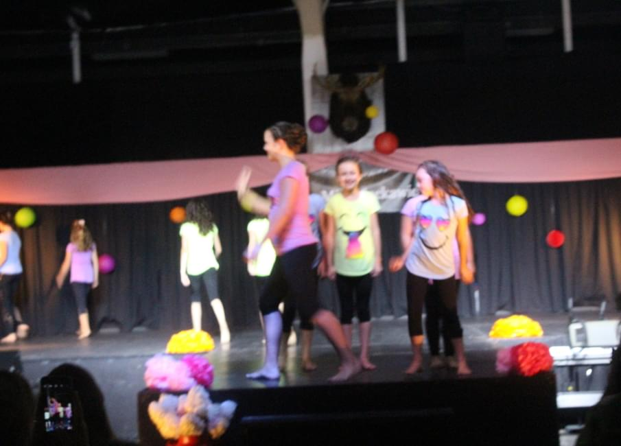 Little Miss Nackawic contestants introduce themselves during the pageant's  opening number on Tuesday night.