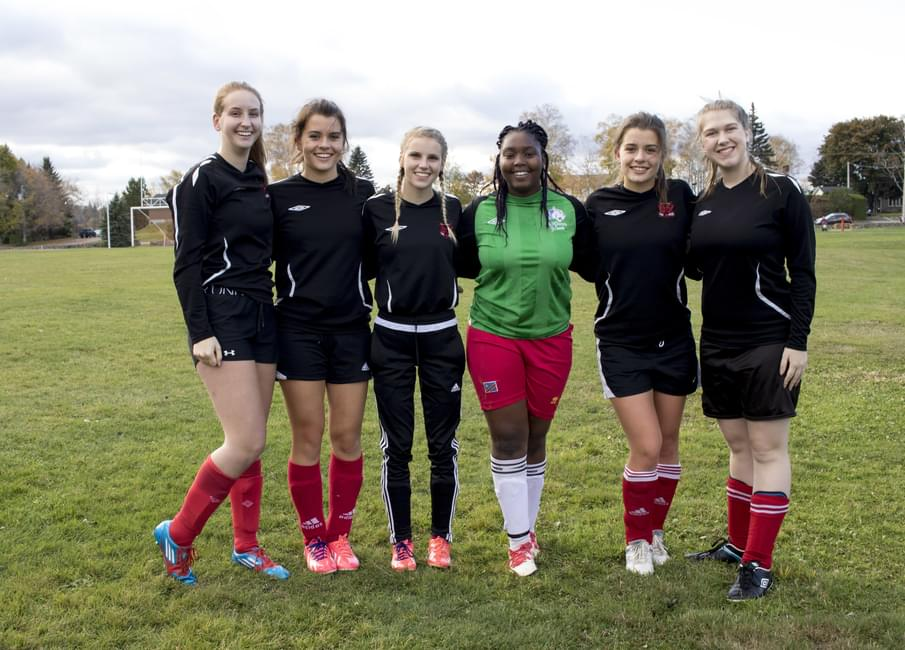 Keara Ferguson Christina Erb Kristina Jean Daniela Kalenda Sydney And Amy Rogers Are All Graduating Players Of The Senior Girls Soccer Team At