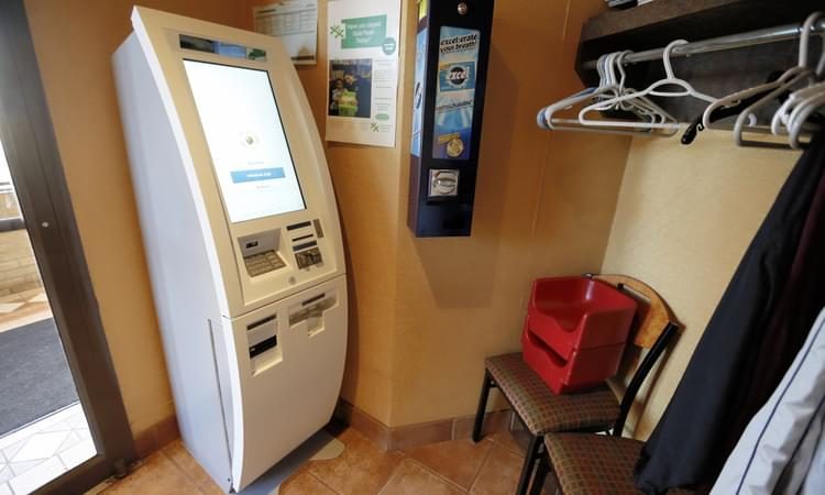 Telegraph journal the bitcoin machine sits at the entrance corner of vitos on rothesay avenue the machine enables the purchase of crypto currency with cash ccuart Image collections