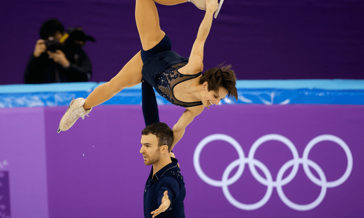 Ms Duhamel and her skating partner Eric Radford won a world championship title last December - the first.