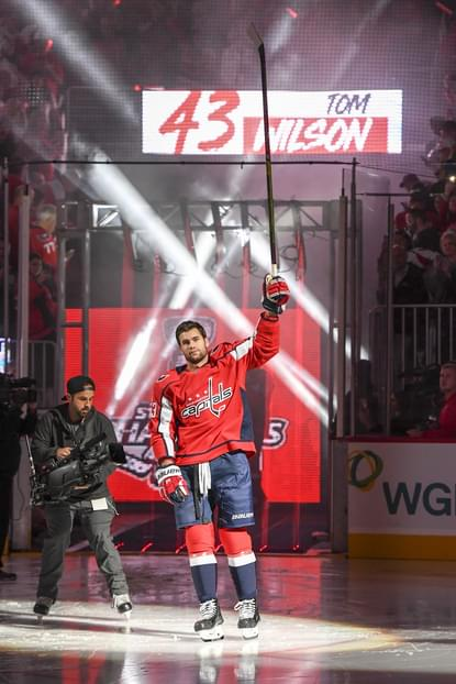 Tom Wilson was on hand Wednesday night for the Washington Capitals   banner-raising ceremony. Wilson was banned 20 games by the NHL for a  blindside hit to ... 1050b7e35
