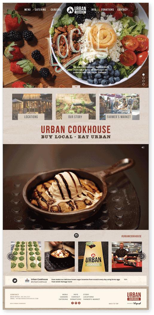Local restaurant website redesign