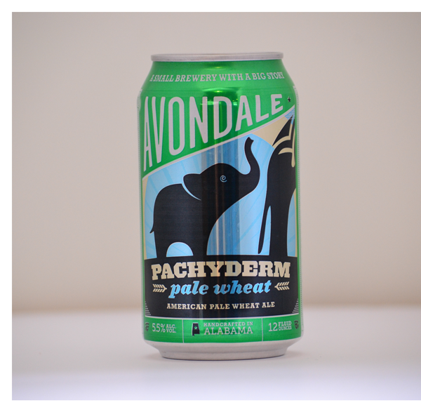 Complete beer can design for Pachyderm Pale Wheat