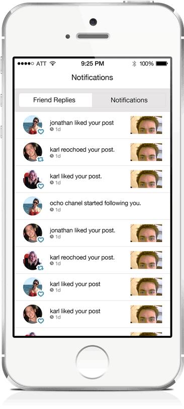 notifications screen example