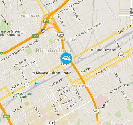 Google maps image of 30 25th St N, Birmingham, AL 35203