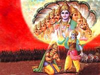 Viraat roop of lord krishna