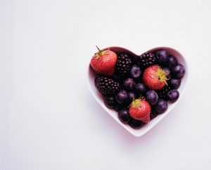 Fruit in a Heart-shaped Bowl