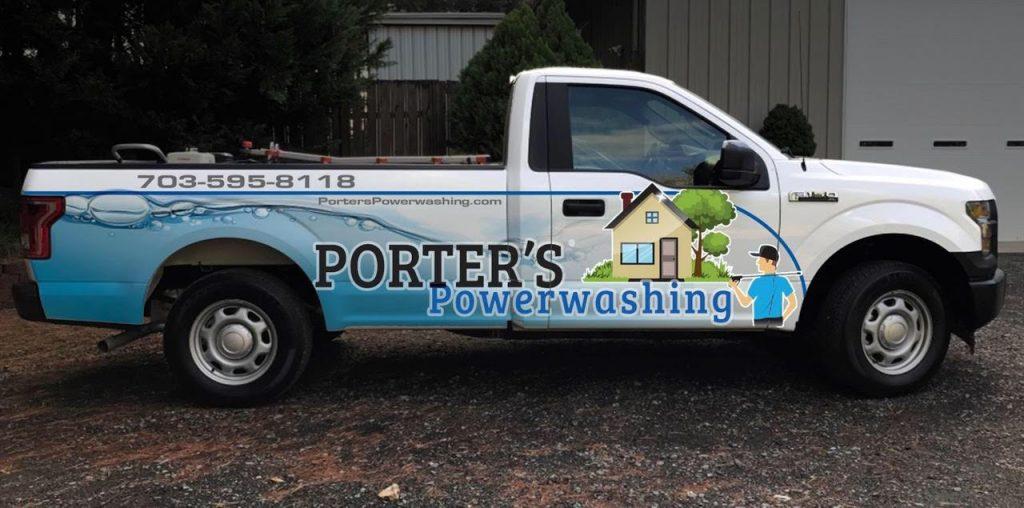 Porter's Powerwashing truck