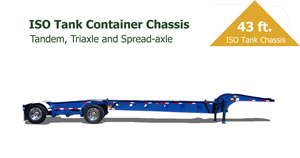 40 Foot ISO Tank Container Chassis