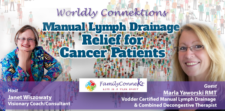 Manual Lymph Drainage, Cancer Patient Relief -Worldly Connektions Ep32 Cover