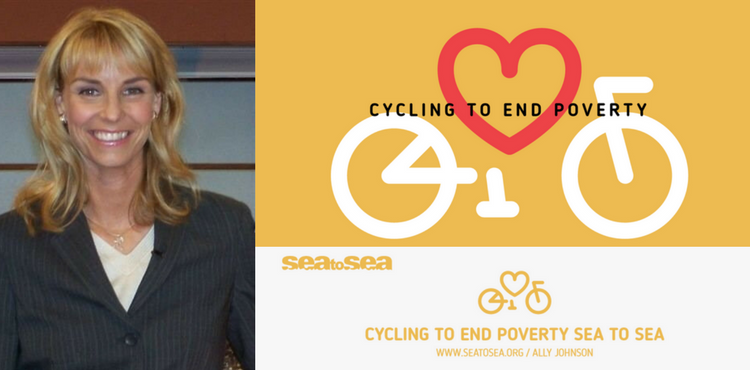Cycling To End Poverty Sea to Sea by Ally Johnson Announcement Cover