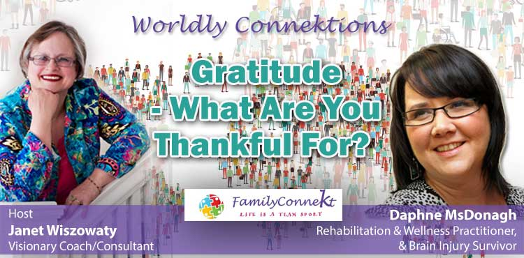 Gratitude - What Are You Thankful For? - Worldly Connektions Ep 04 - Tenacious Living Network - Alternative Wellness Podcasts blog cover