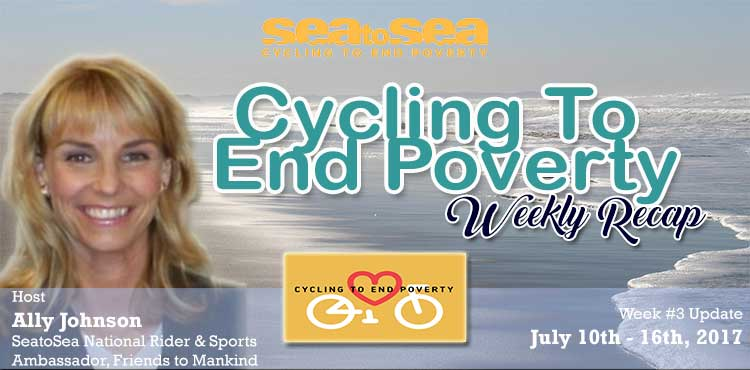 SeaToSea Cycling To End Poverty With Ally Johnson - Week #3 Recap Blog Cover