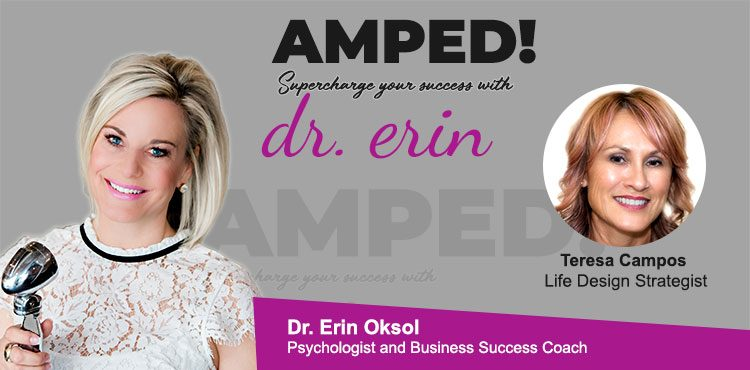 EP 08 Amped! with Dr. Erin Blog Cover with Teresa Campos