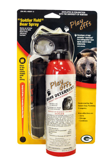 Playoffs - a Bear deterrent spray