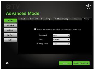 Belkin @TV Setup Screen