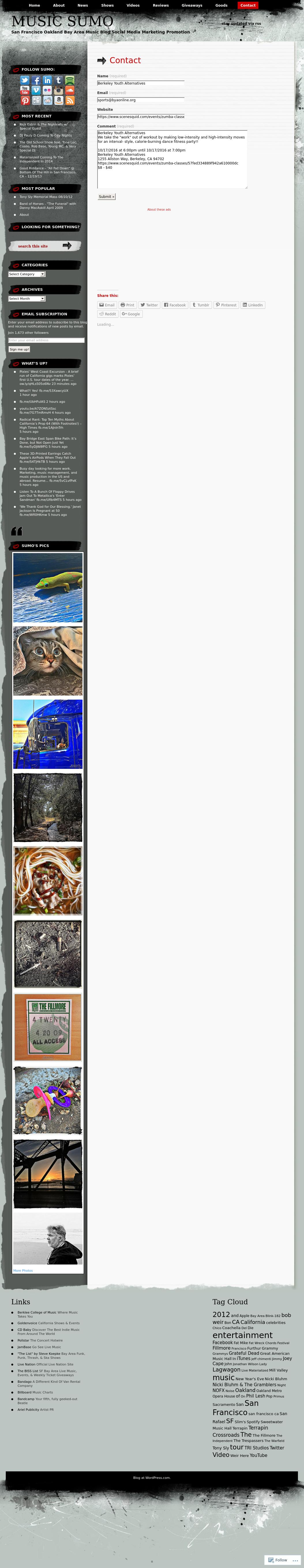 Screenshot from Music Sumo integration