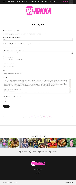 Screenshot from Oh Nikka integration