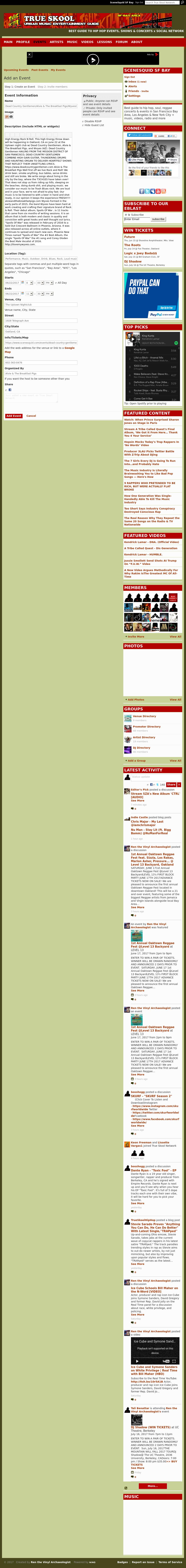 Screenshot from True Skool integration