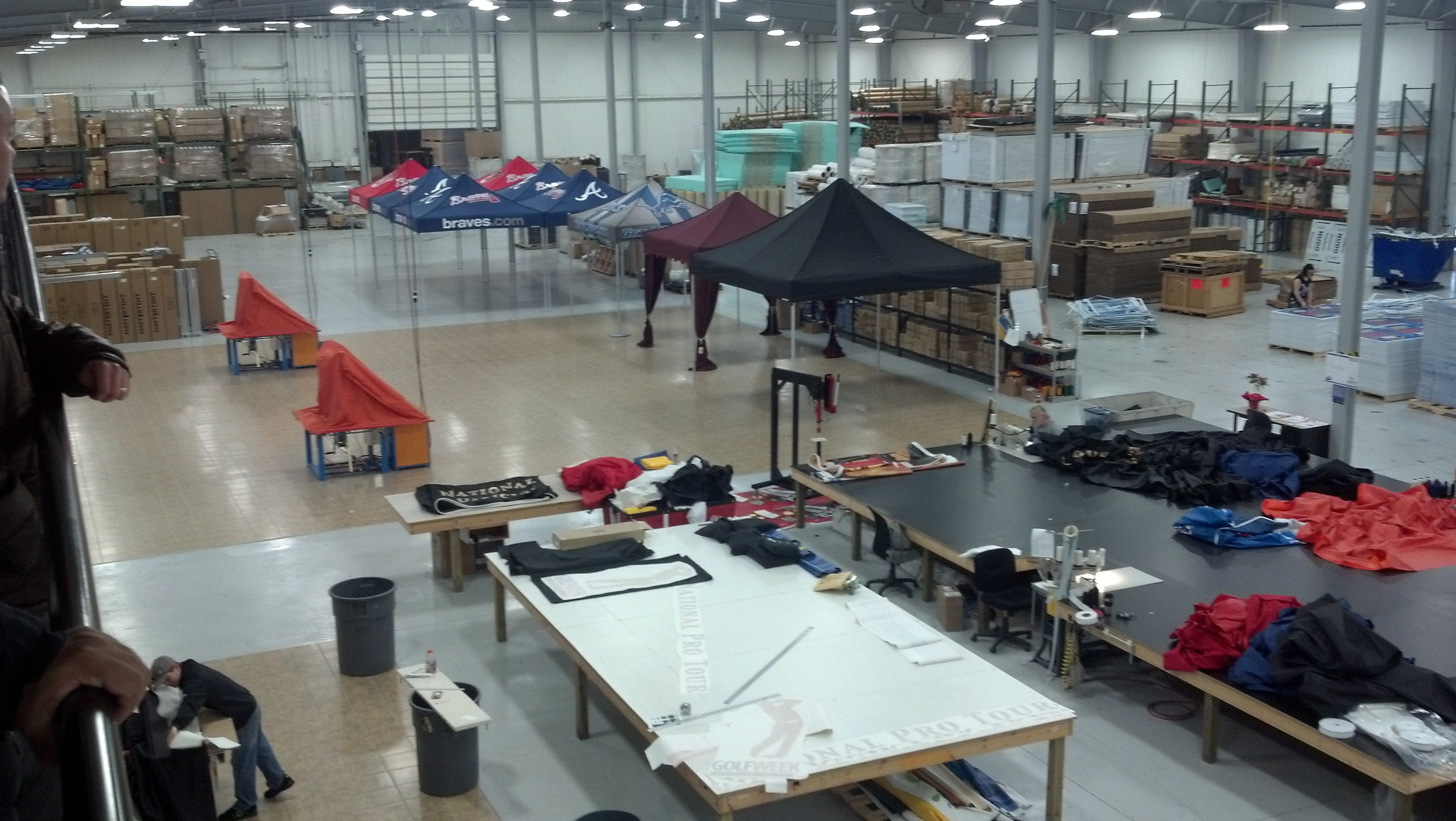Our factory from the catwalk
