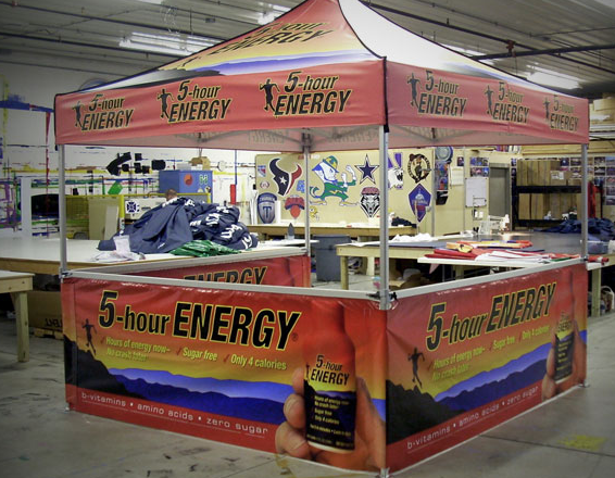 5 Hour Energy 10'x10' MASTERTENT to save the day!