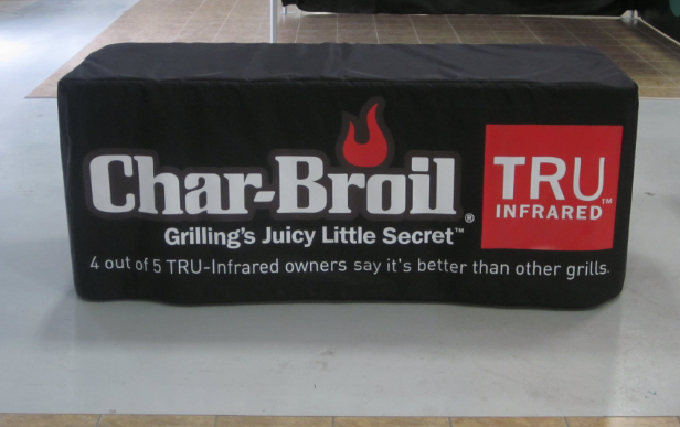 Put your logo on every table at the event with branded table covers.