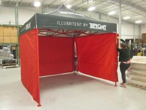 tent setup intern