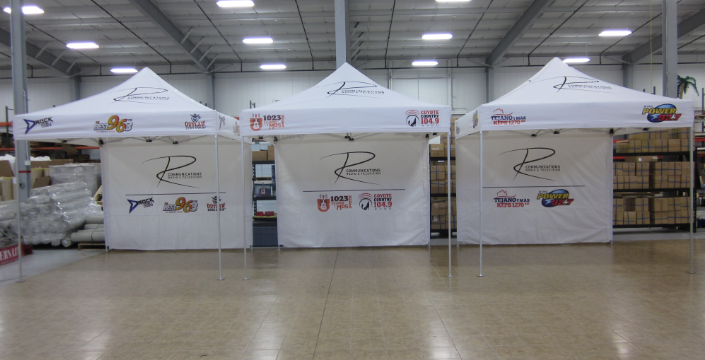 R Communications 10'x10' mightyTENTs