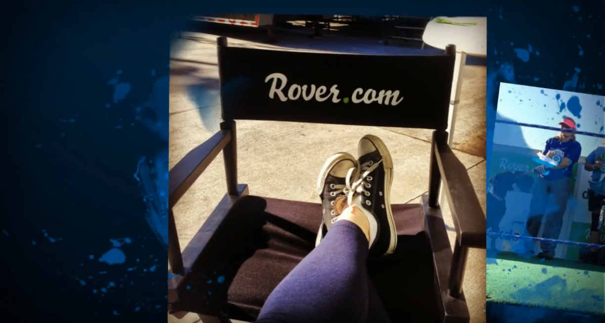 This director's chair that we made for Rover.com is a great way to promote your brand and provide comfort for your potential customers.