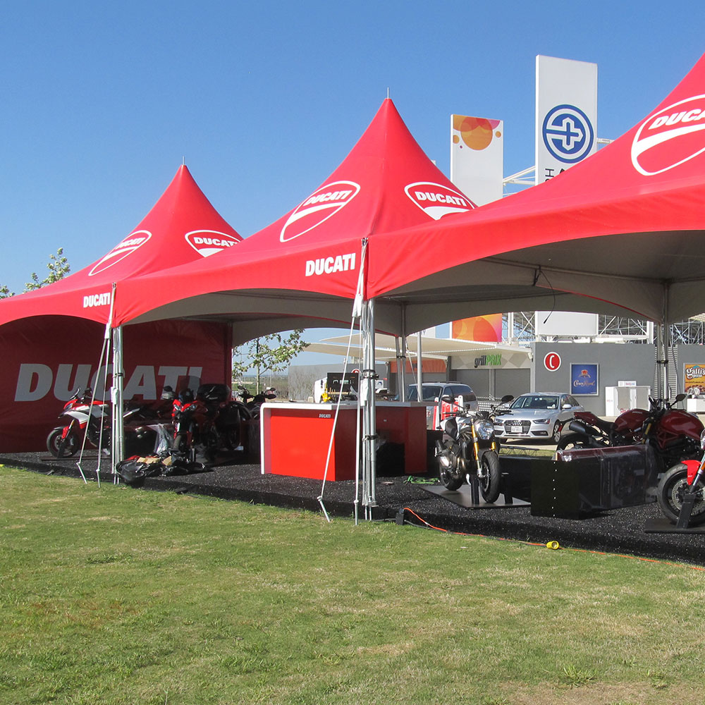 The Ducati S-Series semi-permanent frame tent.