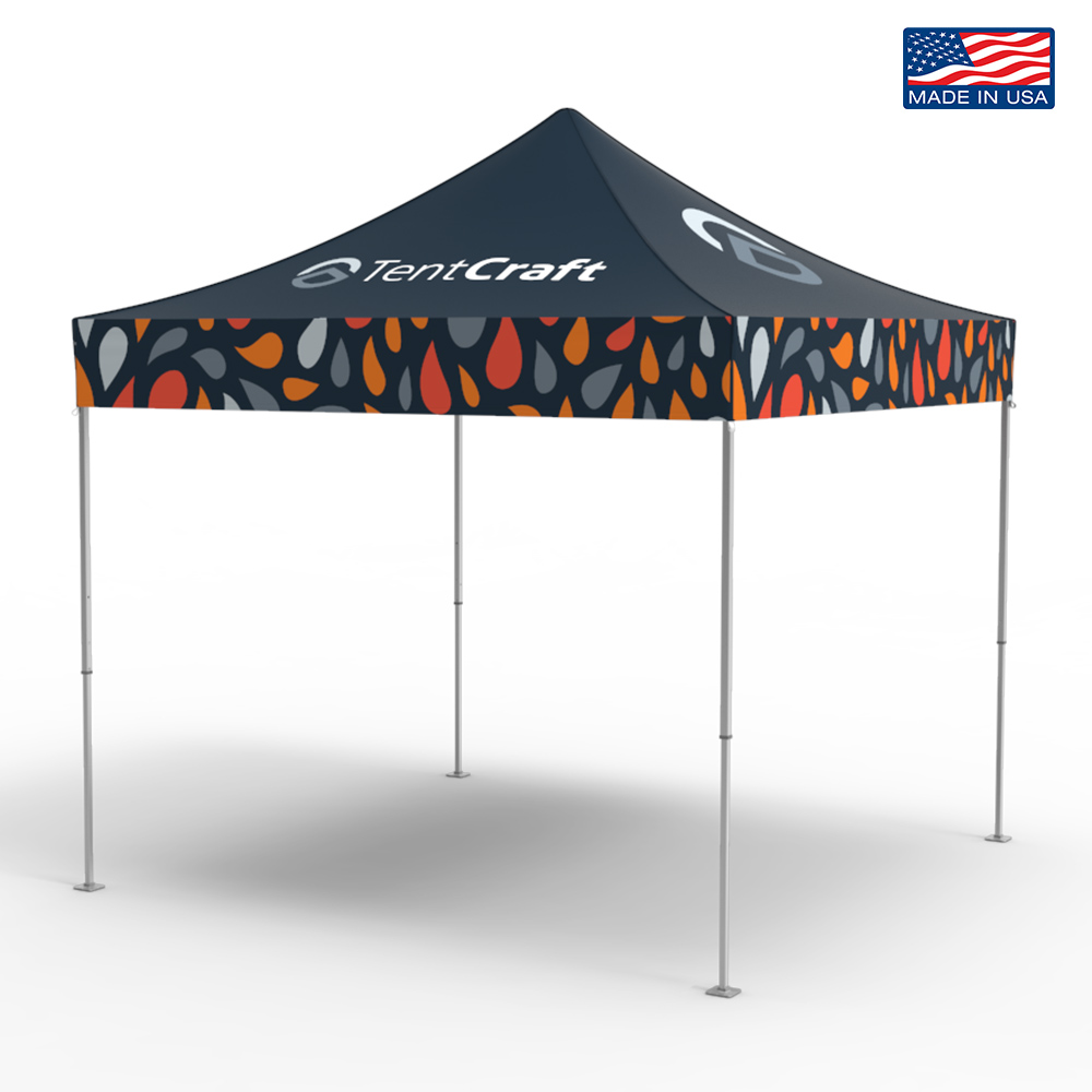 A medium-duty mightyTENT with TentCraft logo and Made in the USA badge.